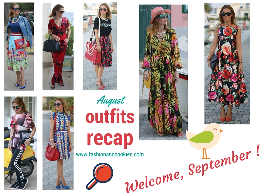 Fashion blogger outfits recap from august, welcome September on Fashion and Cookies fashion blog, fashion blogger style