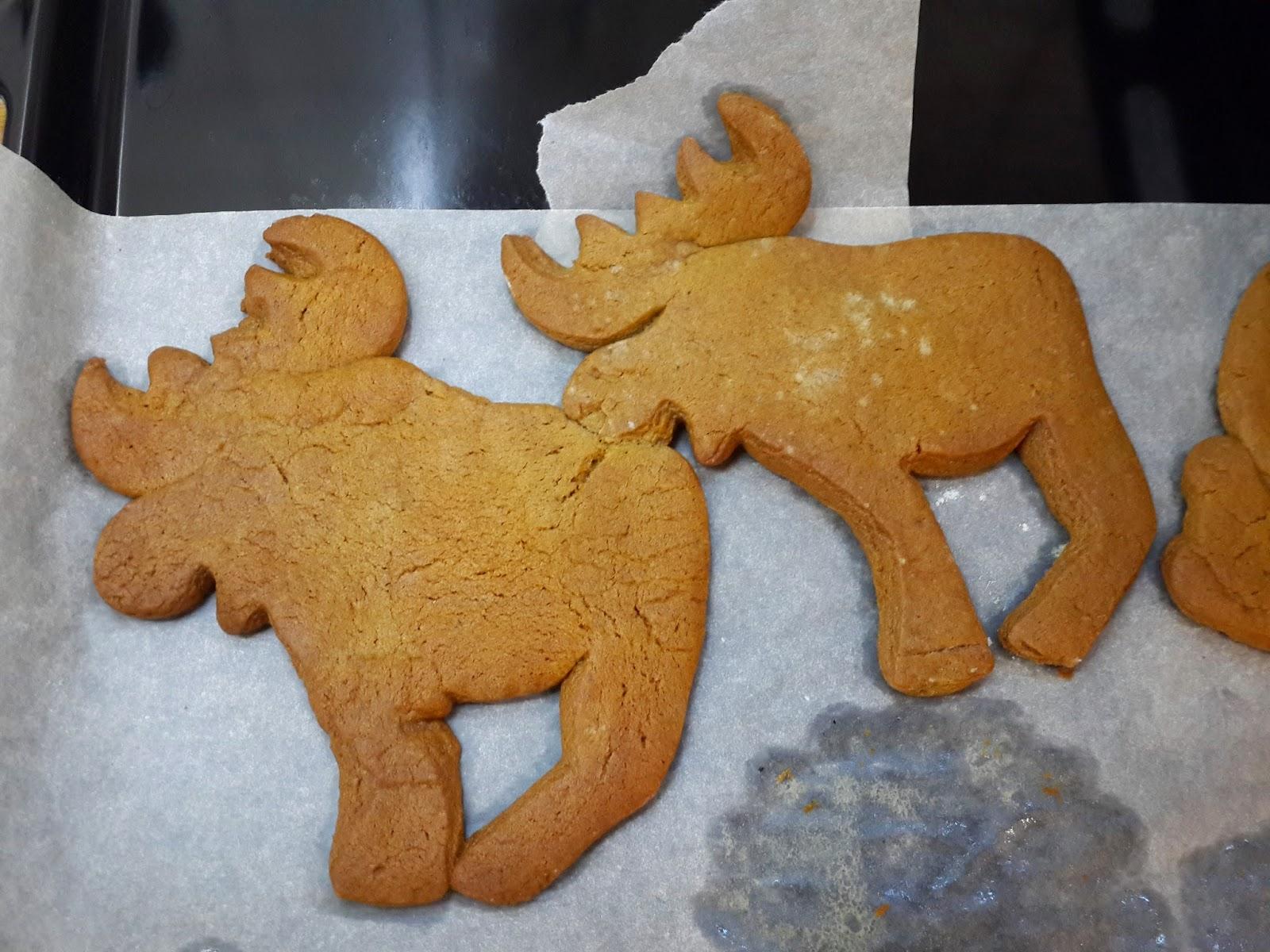 имбирное печенье лоси новый год