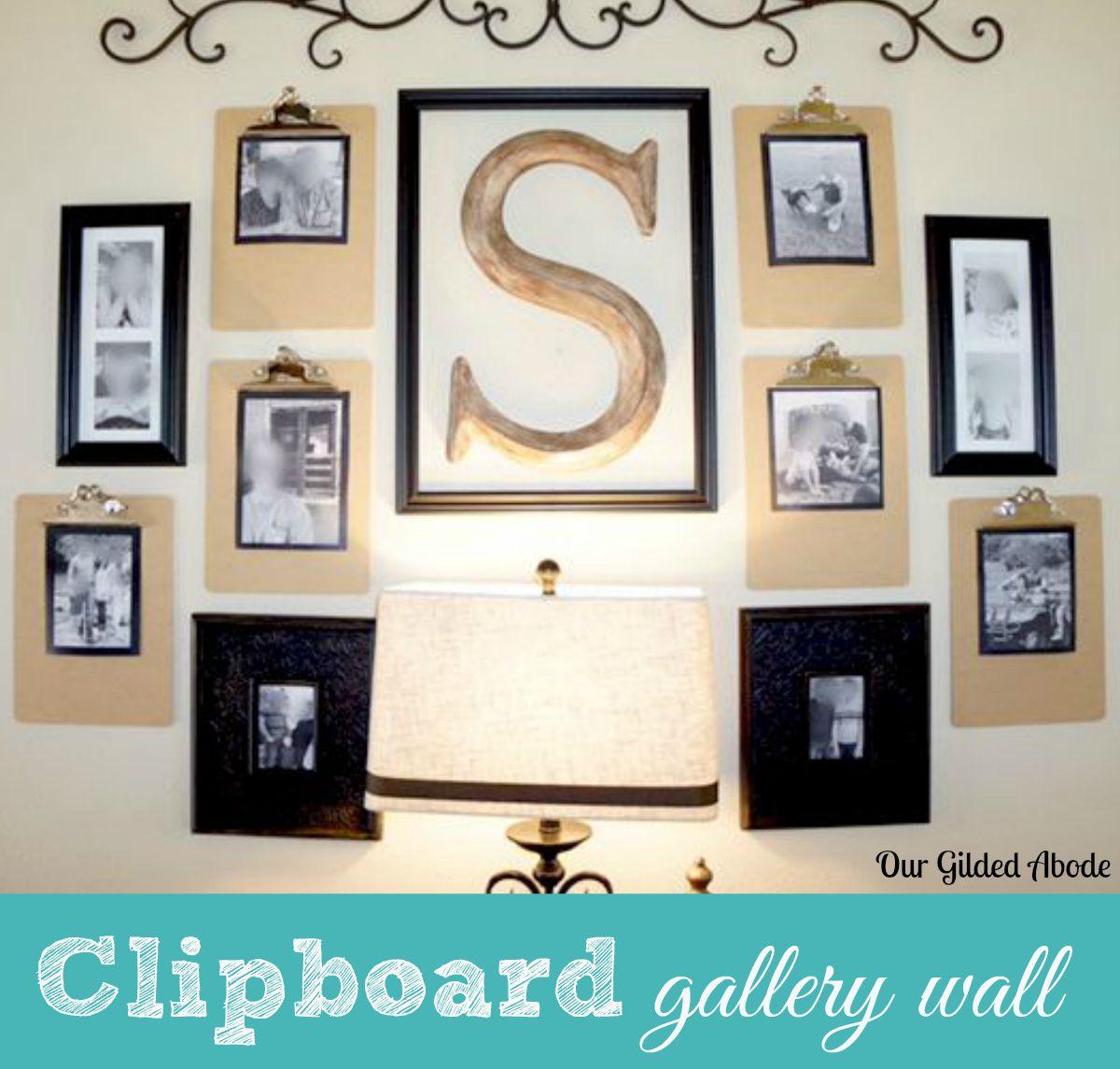 Clipboard Wall Art : Clipboard gallery wall