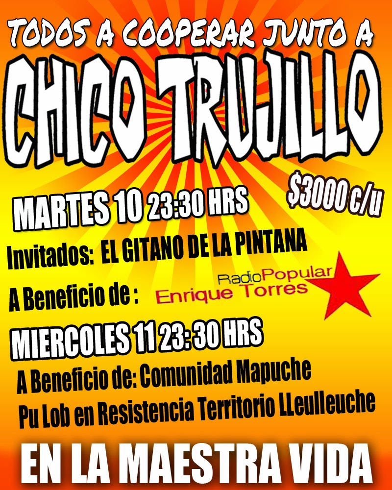 Chico Trujillo en Solidaridad con Radio Popular Enrique Torres