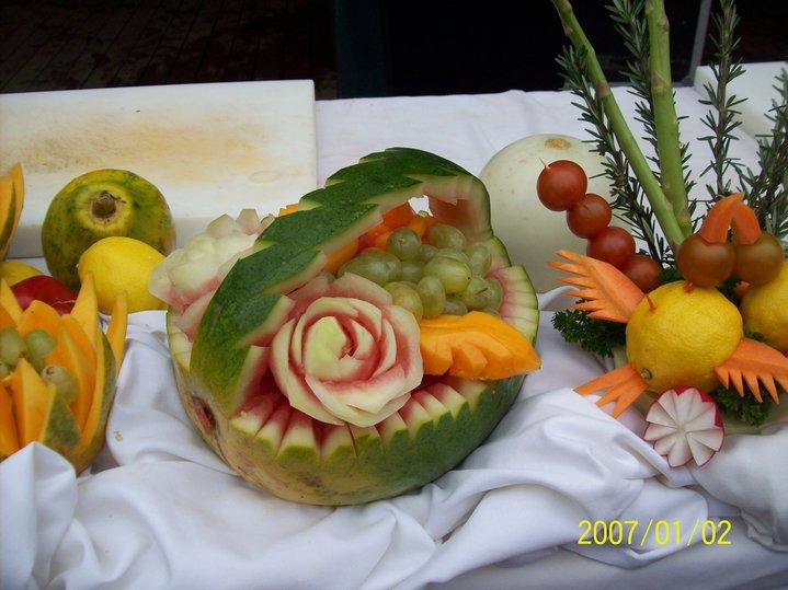 Chef zairi zaidi picture my fruits carving on board p o