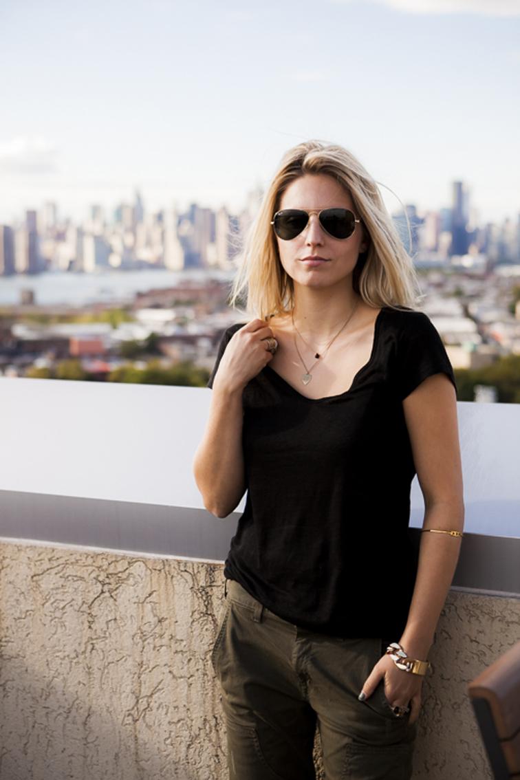 Ray-Ban Manhattan Skyline Linen T-shirt