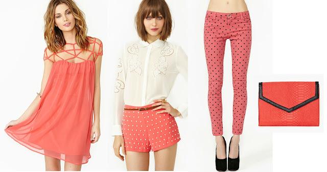 ropa color coral