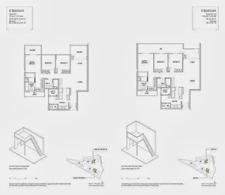 Mon Jervois 3 Bedrooms Floor Plans