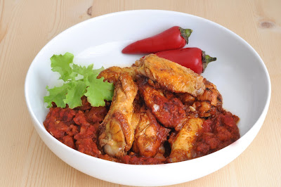 Salsa Chicken Wings ~ Simple Food