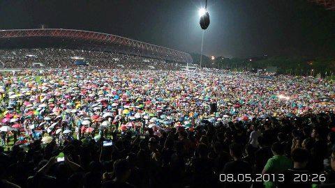 Gambar Perhimpunan Suara Rakyat Suara Keramat di Stadium Kelana Jaya