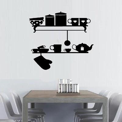 vinilos en las paredes de tu cocina