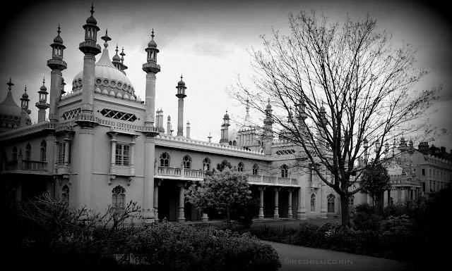 Side view of Brighton Royal Pavilion, Brighton, UK
