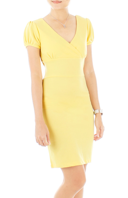 Thumbelina Pastel Dress – Lemon