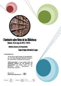 I Seminario sobre Retos de las Bibliotecas