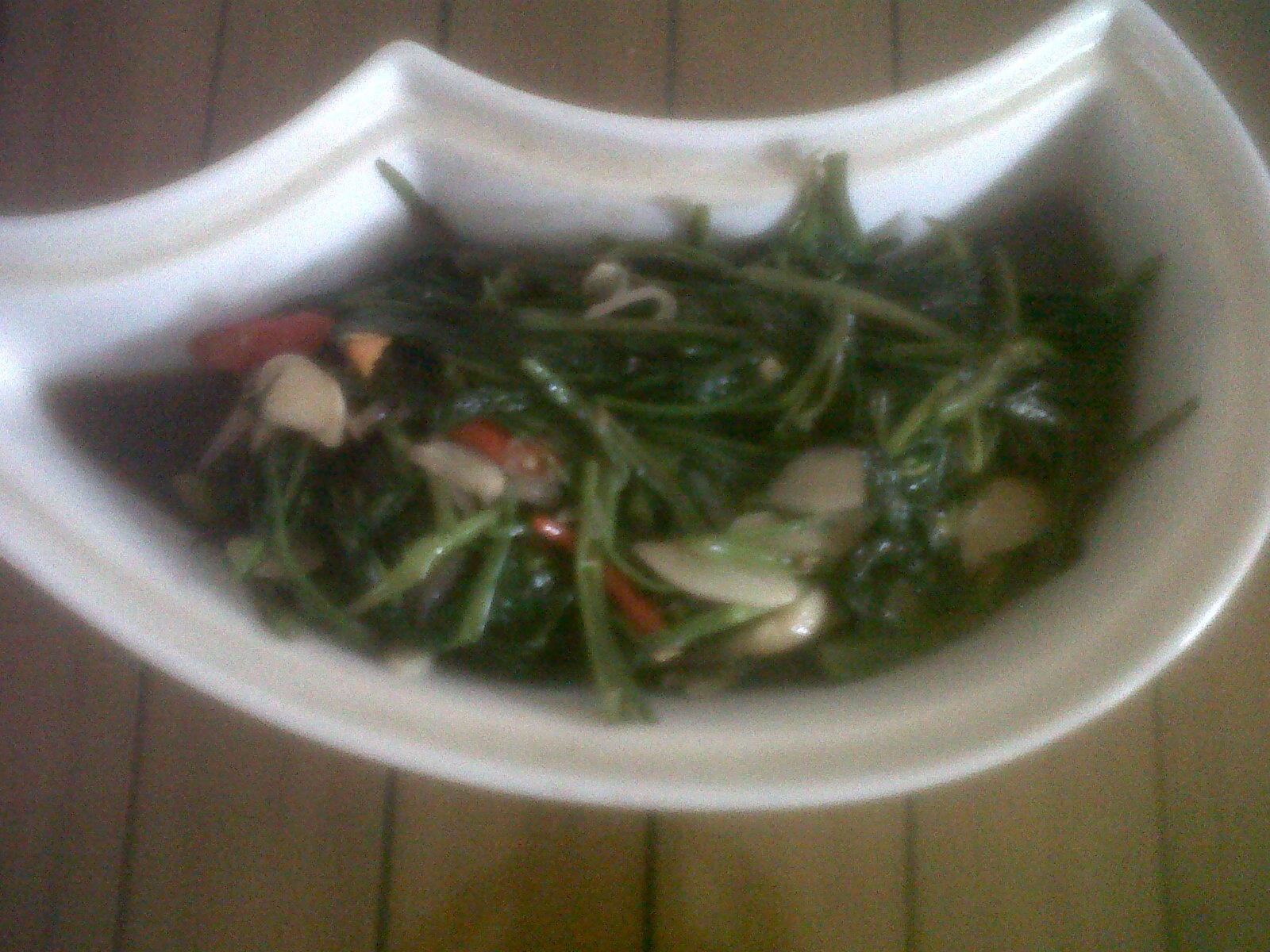 Cara membuat sayur kangkung saos tiram, wisata kuliner khas