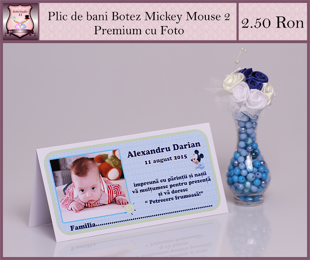 set marturii botez Mickey Mouse