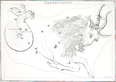 The constellation of Capricorn - early 19th century, source unknown - public domain, via Zana Dark at Wikipedia