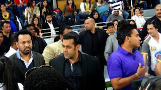 Salman Khan At CCL (Celebrity CrIcket League) held at Dubai