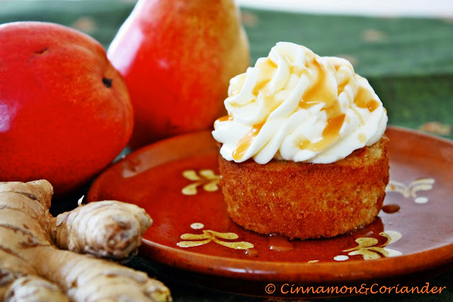 Ginger-Pear-Caramel-Cupcake