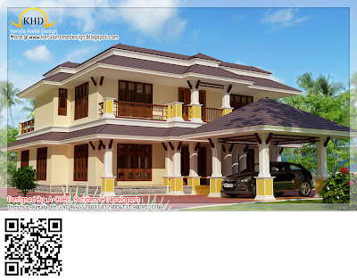 Kerala Style Duplex House Architecture -  242 Square feet (2600 Sq. Ft) - November 2011