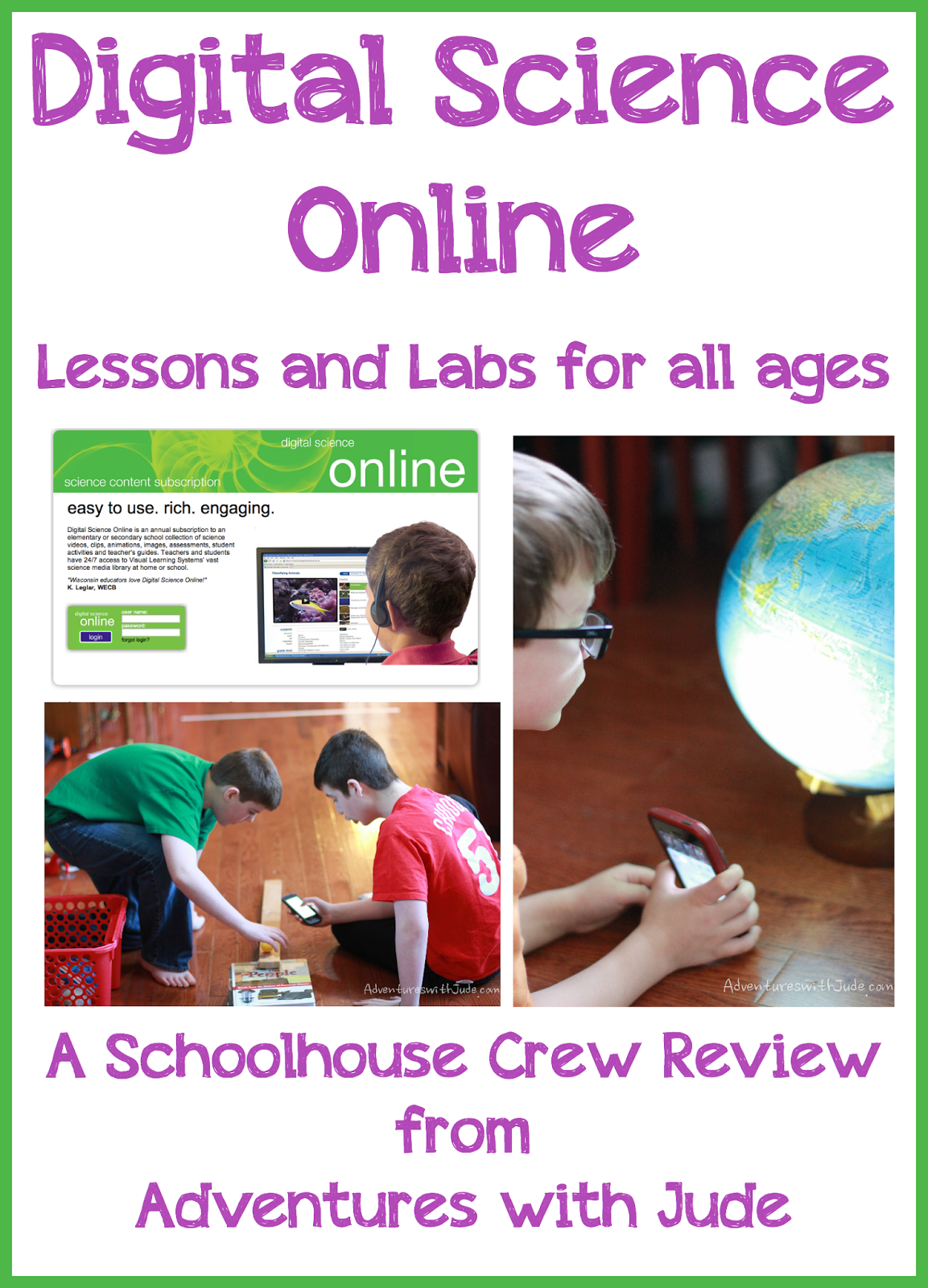 Digital Science Online Lessons and Labs for all ages Schoolhouse Crew Review