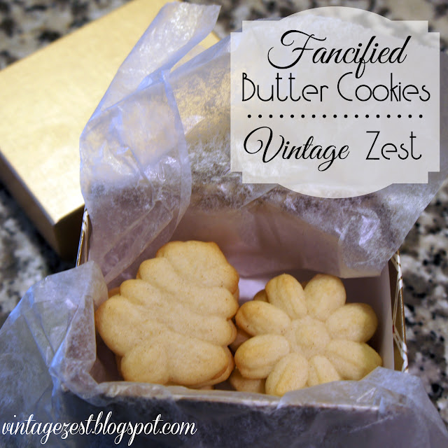 fancified butter cookies for the holidays  Vintage Zest