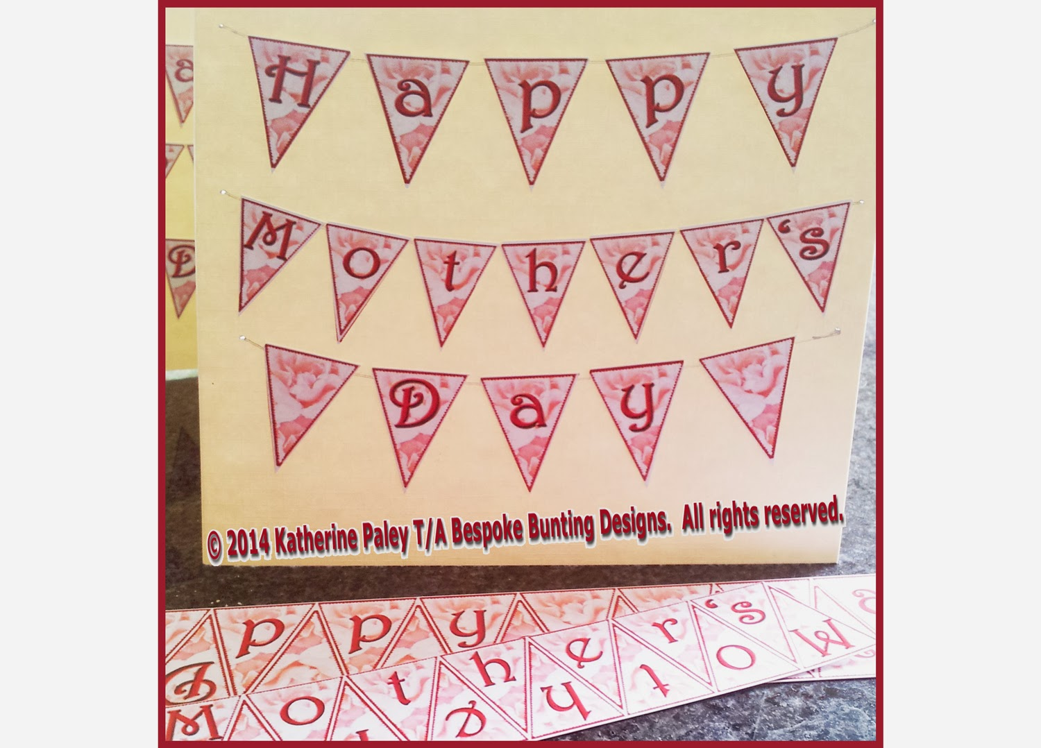 Bespoke Bunting Designs By Katherine Mini Bunting Greeting Cards