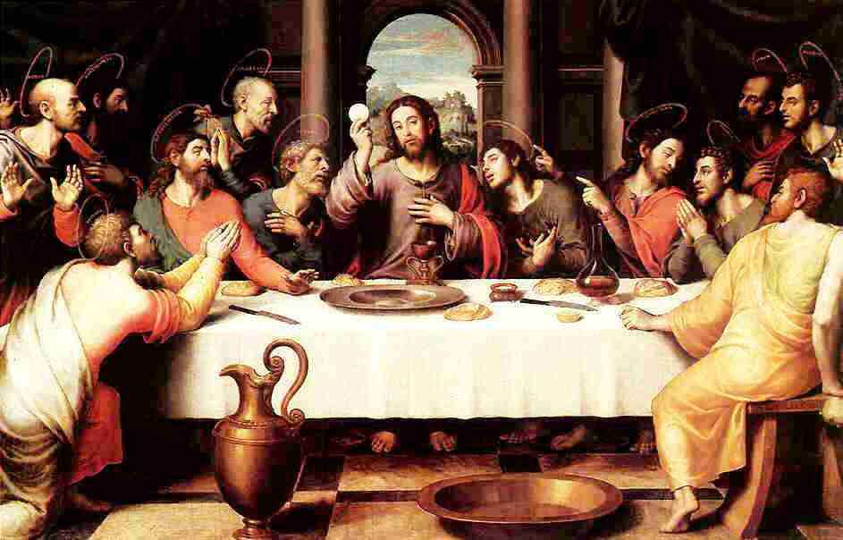 Imagen de la Ultima cena de Jesús junto a sus apóstoles