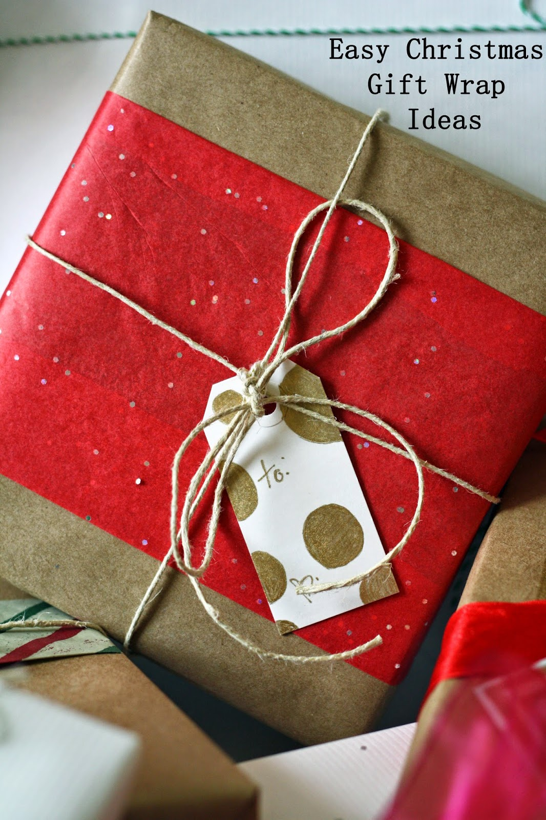 the semi-frugal life: easy Christmas gift wrap ideas