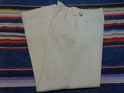 30's WHITE COTTON フランネル WORK PANTS #rare!!