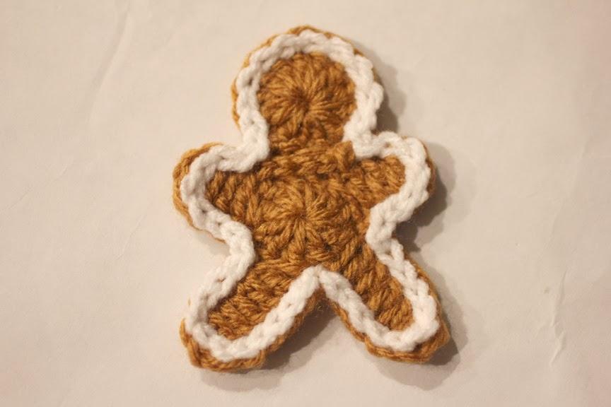 Free Crochet Pattern For Gingerbread Man : Crocheted Gingerbread Man Cookie Pattern - Repeat Crafter Me