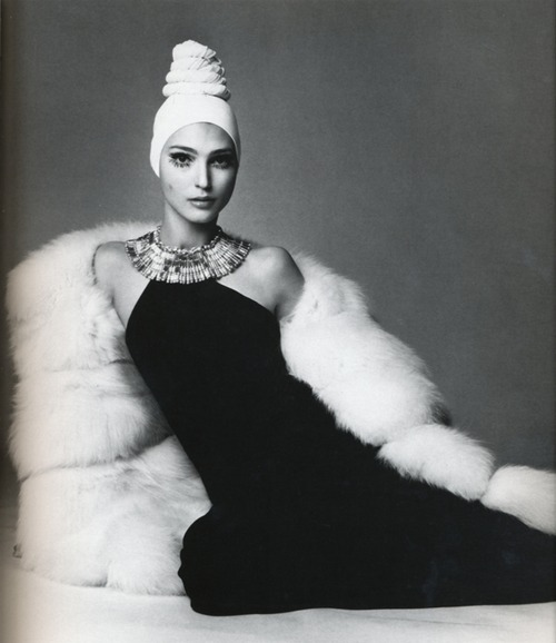 Benedetta Barzini in a Caumont dress Photographed by Gianpaolo Barbieri for Vogue Italia, 1968