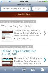 Wise Law Blog Mobile