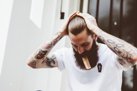 Ricki Hall Combing his Beard