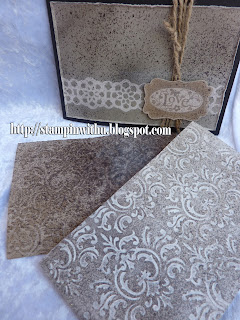 Faux Etched Stone Technique Card and Card Fronts
