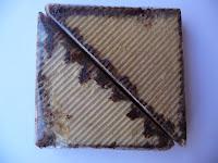 Merienda Triángulo bañado en chocolate
