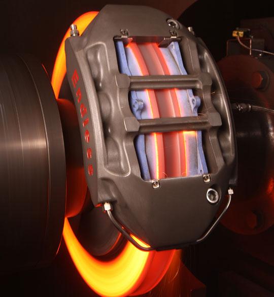 Calentamiento del disco de frenos