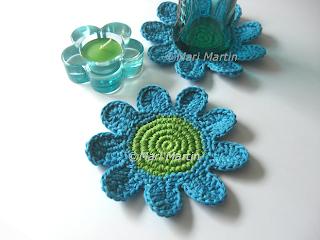 Crochet Coasters Blue Coasters