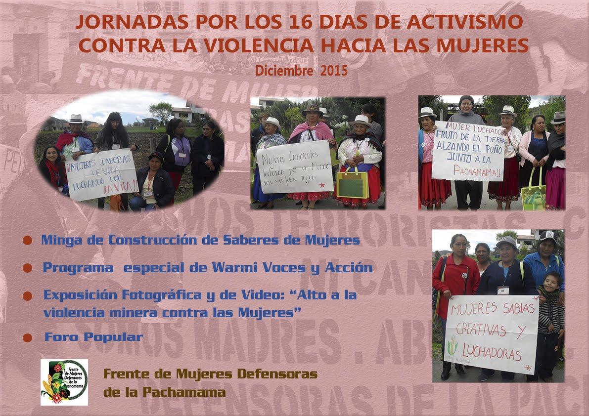 """""""Jornadas por los 16 Días de Activismo contra la Violencia hacia las Mujeres"""""""