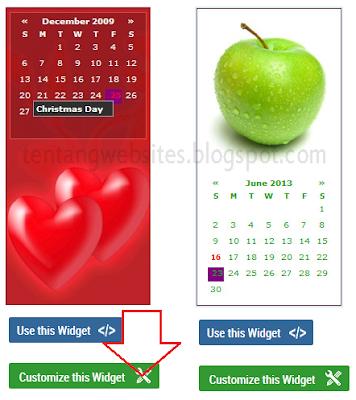 memasang widget kalender pada blog