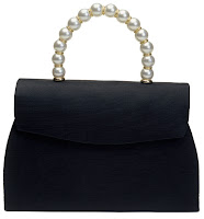 Pearl handle evening bag