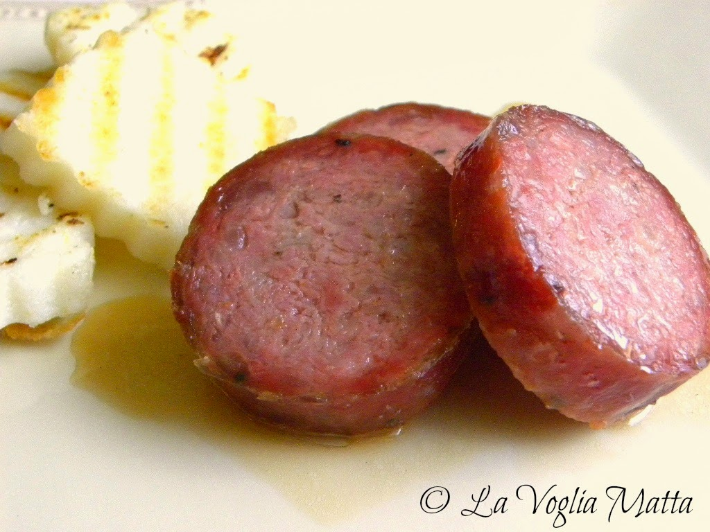 ricetta tipica friulana con polenta bianca e salame cotto nell'aceto