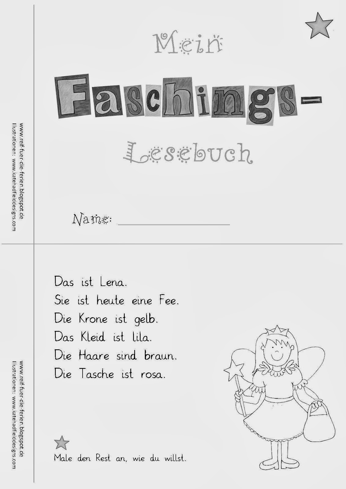 Faschings - Lesemini differenziert