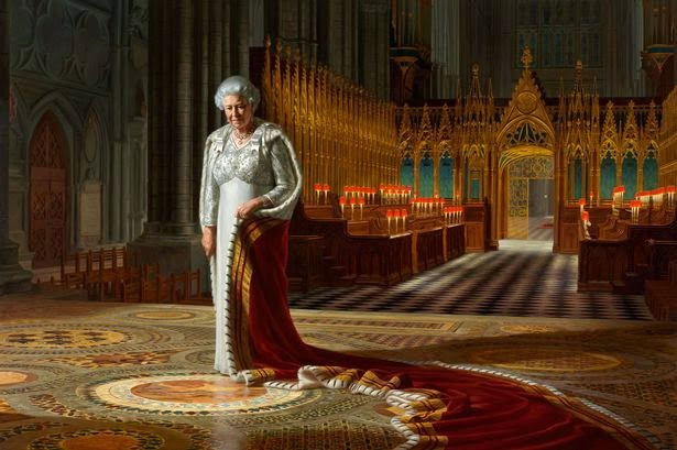 Australian-born artist Ralph Heimans painted this Diamond Jubilee portrait of Elizabeth the Second