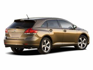 Rear 3/4 view of brown 2011 Toyota Venza