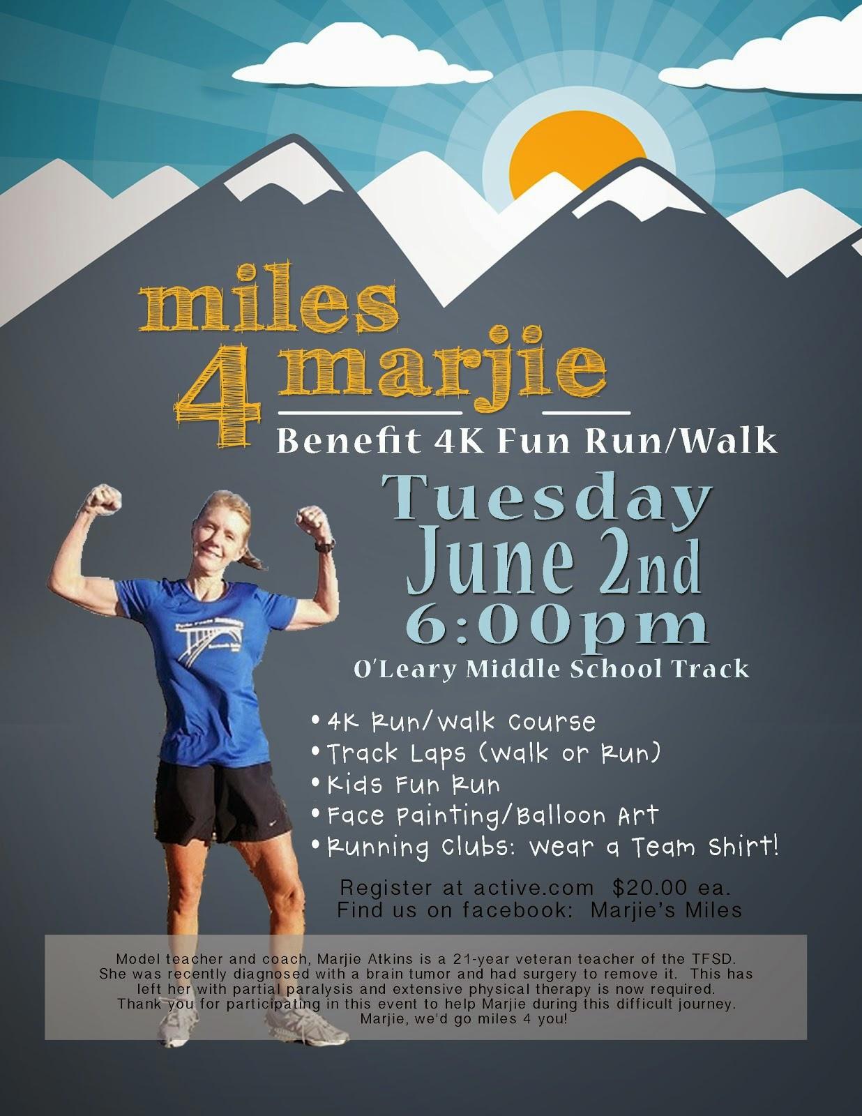marjie s miles 4k fundraiser