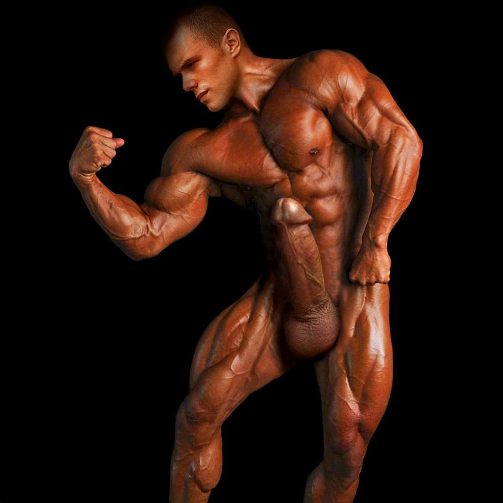 Naked Bodybuilder With Huge Solid Dick