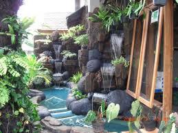 warna alam landscape garden: taman kolam / air terjun