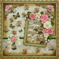 """Teach Me Your Ways O Lord"" made with STTG Chipboard & ""House of Roses"" by LemonCraft!!"