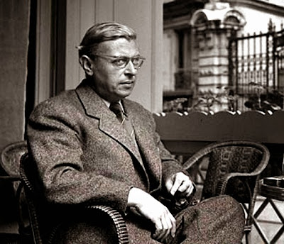 Jean-Paul Sartre, Paris, 1950