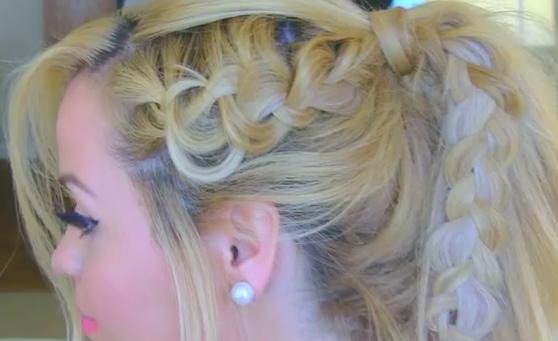 Dutch Braid Pony Tail Hairstyle Tutorial