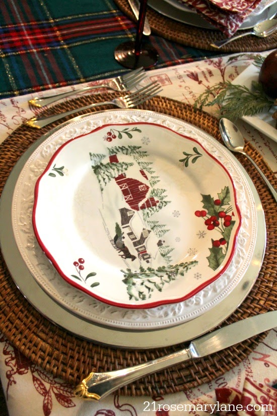 21 Rosemary Lane: Our Colonial Christmas Dining Room