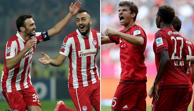Olympiacos vs Bayern Munich en vivo