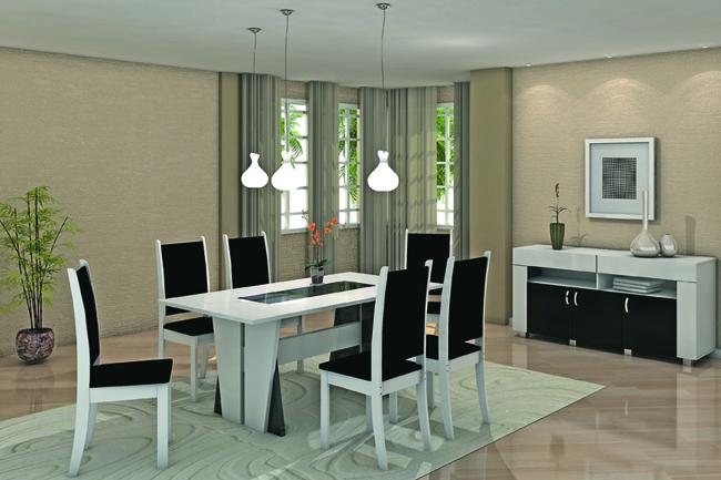 decoracao de sala jantar e estar juntas:Dicas para montar uma sala de jantar bem moderna e aconchegante, veja